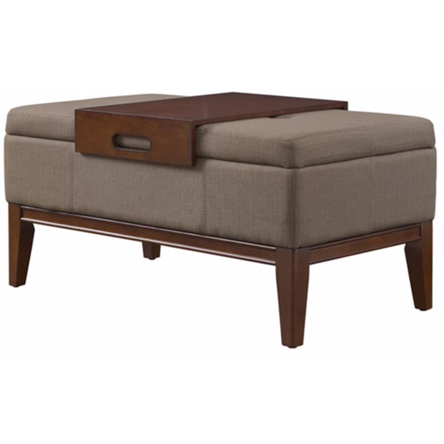 Shop Whalen Tan Rectangle Storage Ottoman at Lowescom