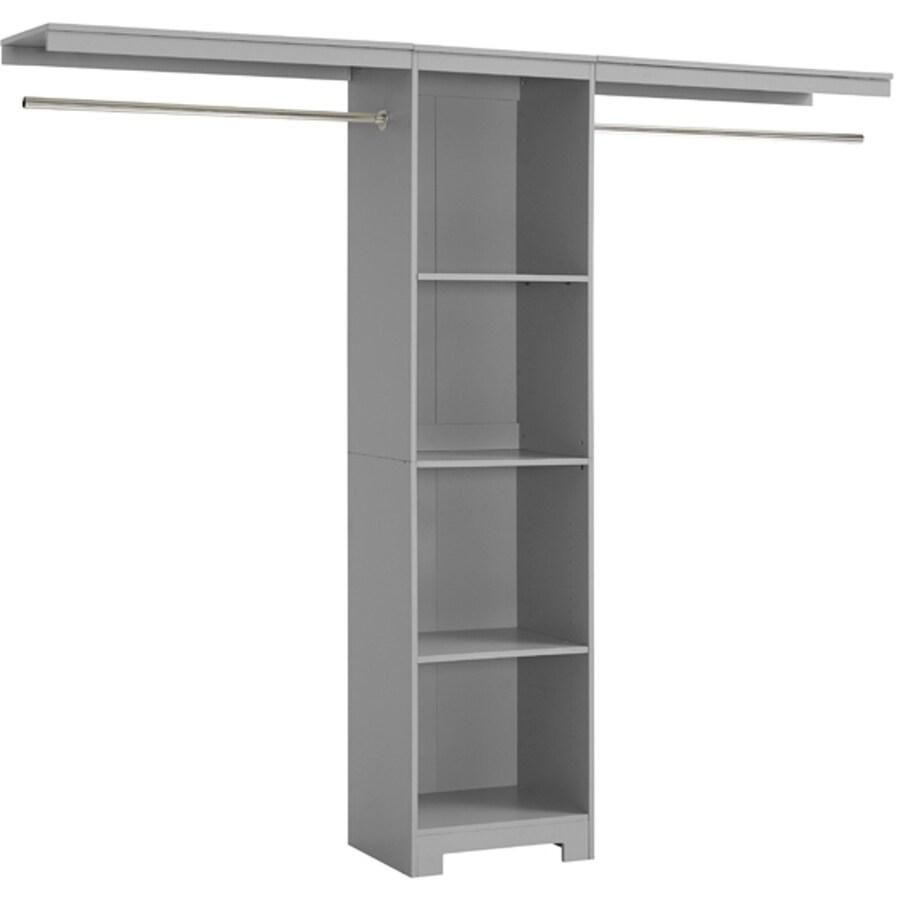 Whalen 3.6-ft x 8-ft Gray Wood Closet Kit