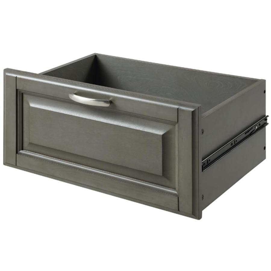 allen + roth Rustic Gray Wood Drawer Unit