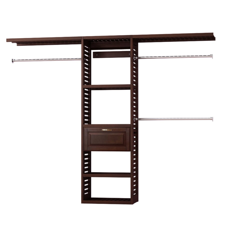allen + roth 8-ft x 6.6-ft Java Wood Closet Kit