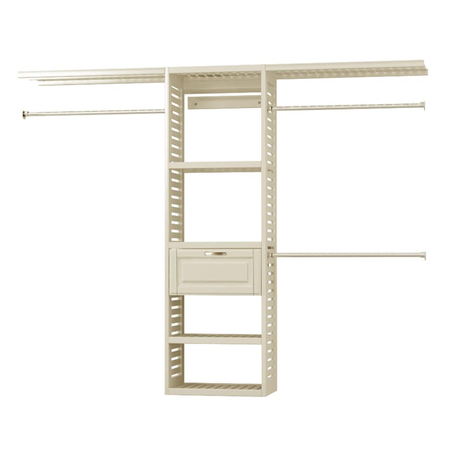Allen + Roth 8 Ft X 6.6 Ft White Wood Closet Kit