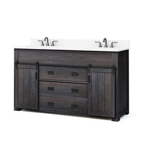 Incredible Brown Bathroom Vanities At Lowes Com Interior Design Ideas Tzicisoteloinfo