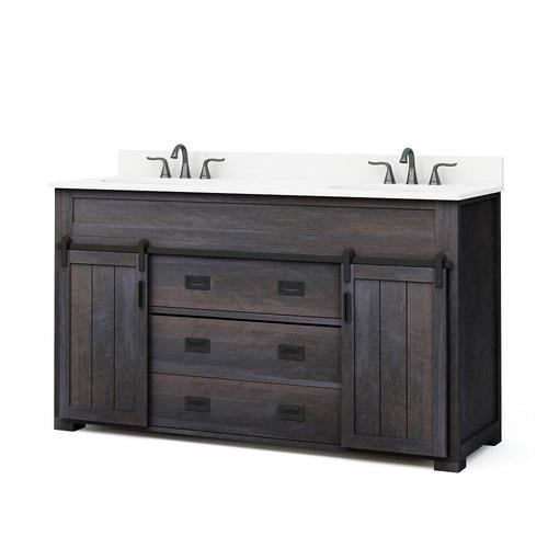 Distressed Java Double Sink