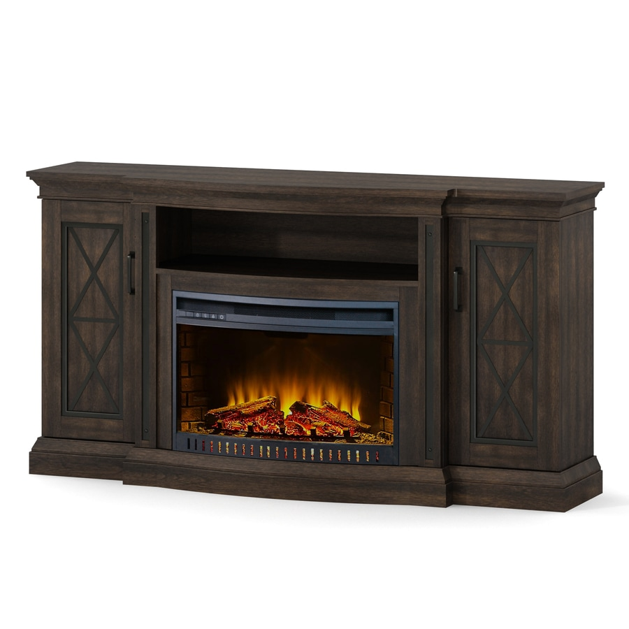 Whalen 62 in fireplace with 26in bow front fireplace