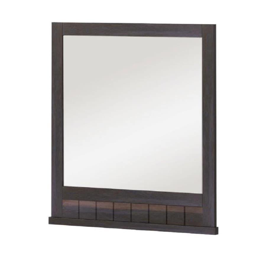 Display product reviews for Morriston 26-in Brown Rectangular Bathroom Mirror