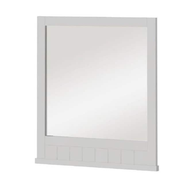 Style Selections Morriston 26 In White Rectangular Bathroom Mirror In The Bathroom Mirrors Department At Lowes Com