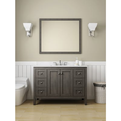 Strange Allen Roth Everdene 48 In Grey Single Sink Bathroom Vanity Download Free Architecture Designs Pushbritishbridgeorg