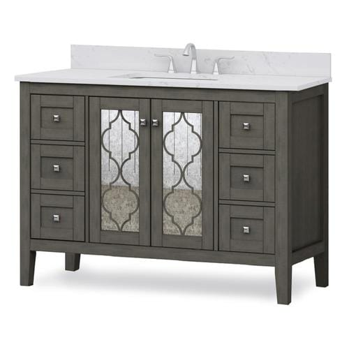 allen + roth Everdene 48-in Grey Single Sink Bathroom ...