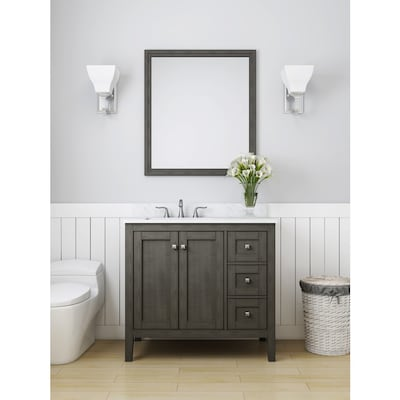 Allen Roth Everdene 36 In Grey Single Sink Bathroom Vanity