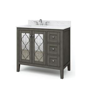 Magnificent Gray Bathroom Vanities With Tops At Lowes Com Interior Design Ideas Tzicisoteloinfo