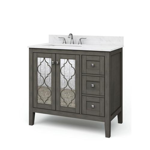 allen + roth Everdene 36-in Grey Single Sink Bathroom ...
