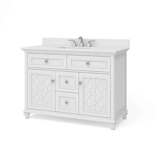 allen + roth chelney 48-in white single sink bathroom