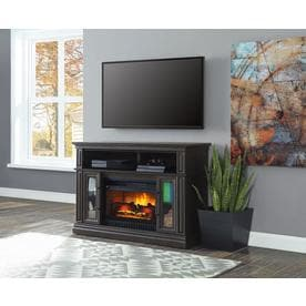 Whalen 47.75 In W Acacia Grain With Warm Brown Infrared Quartz Electric  Fireplace