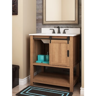 Style Selections 30-in Brown Single Sink Bathroom Vanity