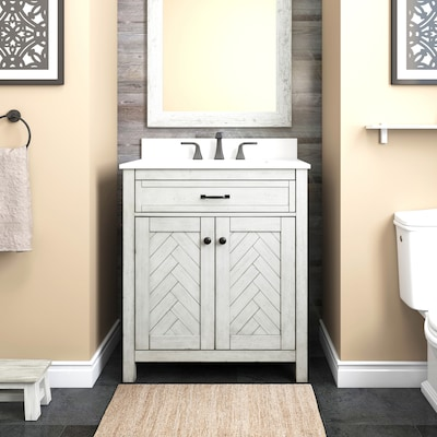 Undermount Engineered Stone Bathroom Vanities With Tops At Lowes Com