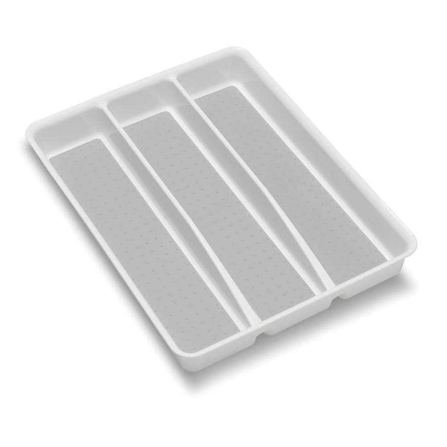Style Selections 14.98-in x 12.09-in Plastic Cutlery Insert Drawer Organizer