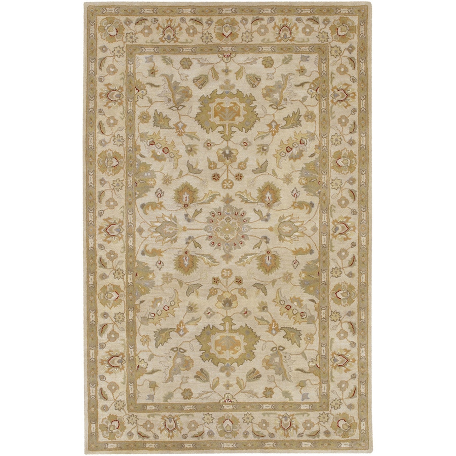 Artistic Weavers Grafton Rectangular Cream Floral Tufted Wool Area Rug (Common: 8-ft x 11-ft; Actual: 8-ft x 11-ft)