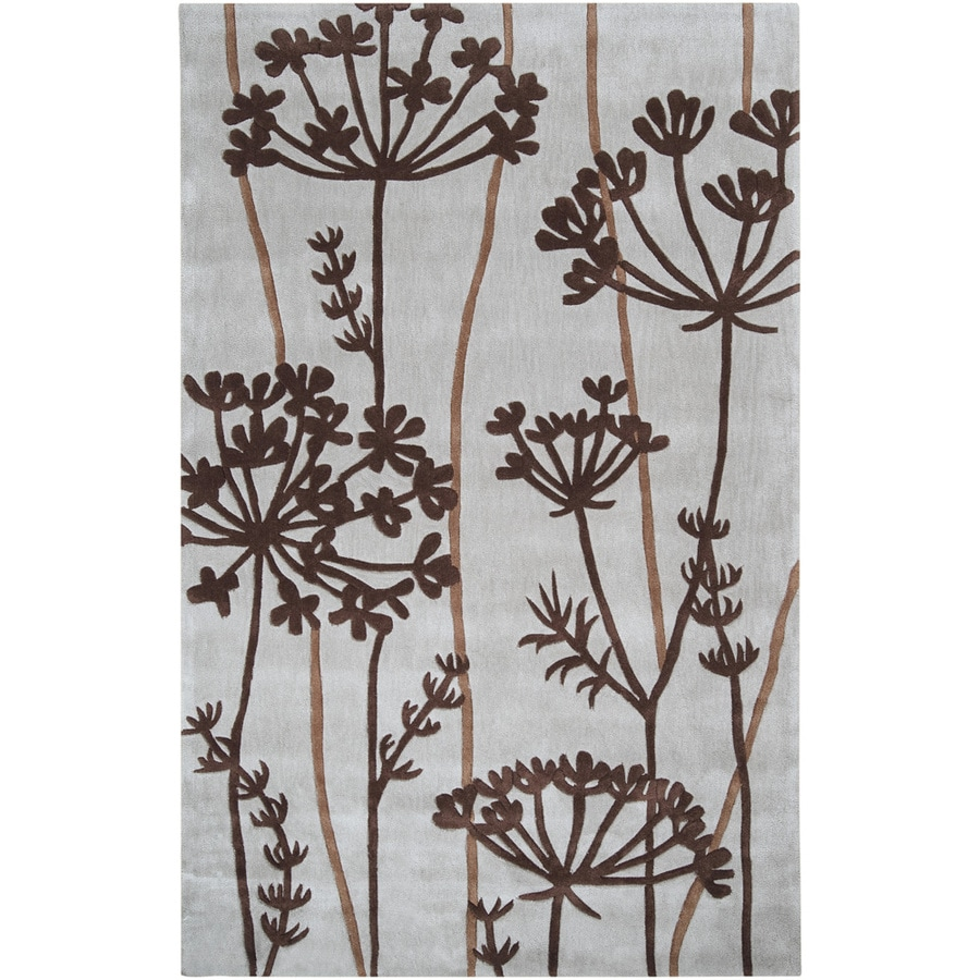 Artistic Weavers Wigan White Rectangular Indoor Tufted Area Rug (Common: 5 x 8; Actual: 60-in W x 96-in L x 1.7-ft Dia)