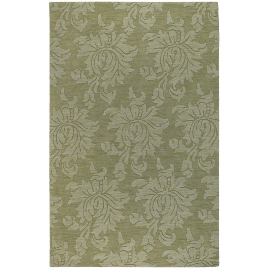 Artistic Weavers Canterbury Rectangular Green Solid Tufted Area Rug (Common: 8-ft x 11-ft; Actual: 8-ft x 11-ft)
