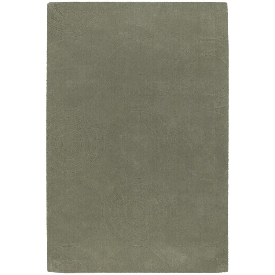 Artistic Weavers Mystique 5-ft x 8-ft Rectangular Green Solid Area Rug
