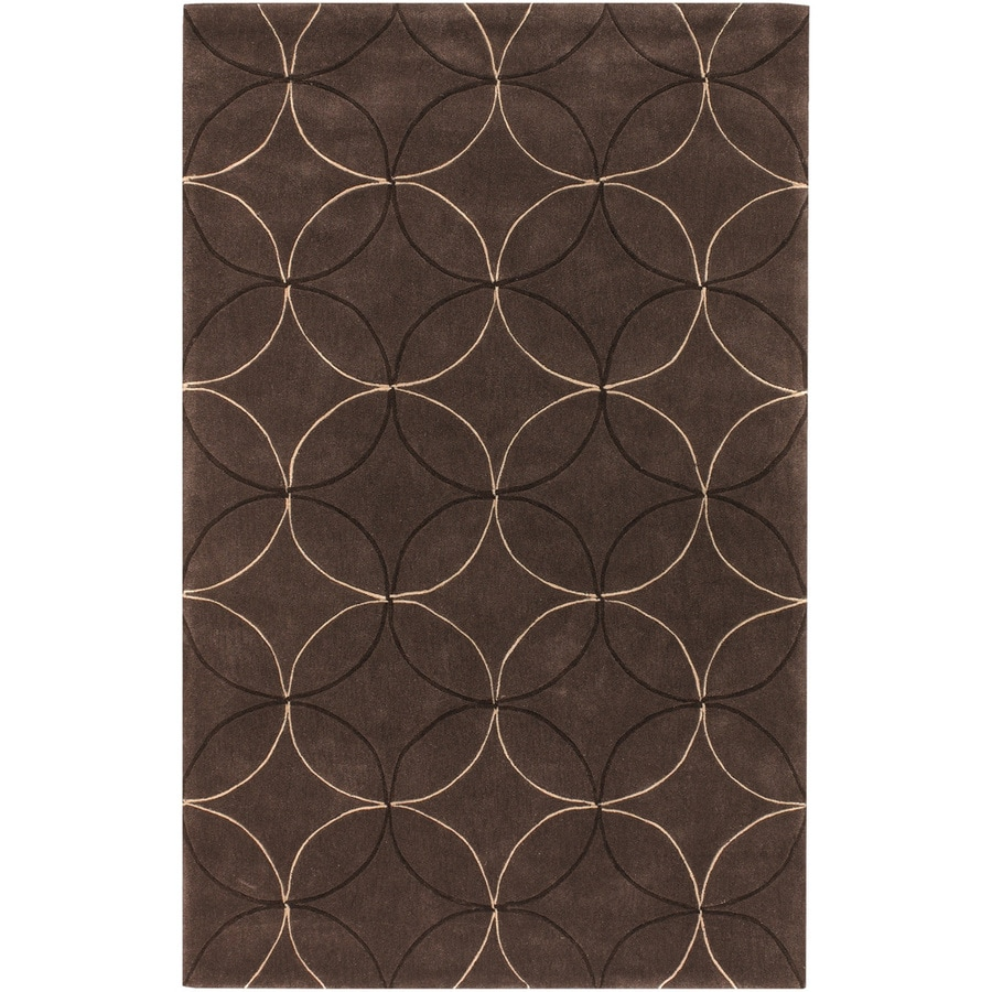 Artistic Weavers Decatur Brown Rectangular Indoor Tufted Area Rug (Common: 5 x 8; Actual: 60-in W x 96-in L x 1.7-ft Dia)