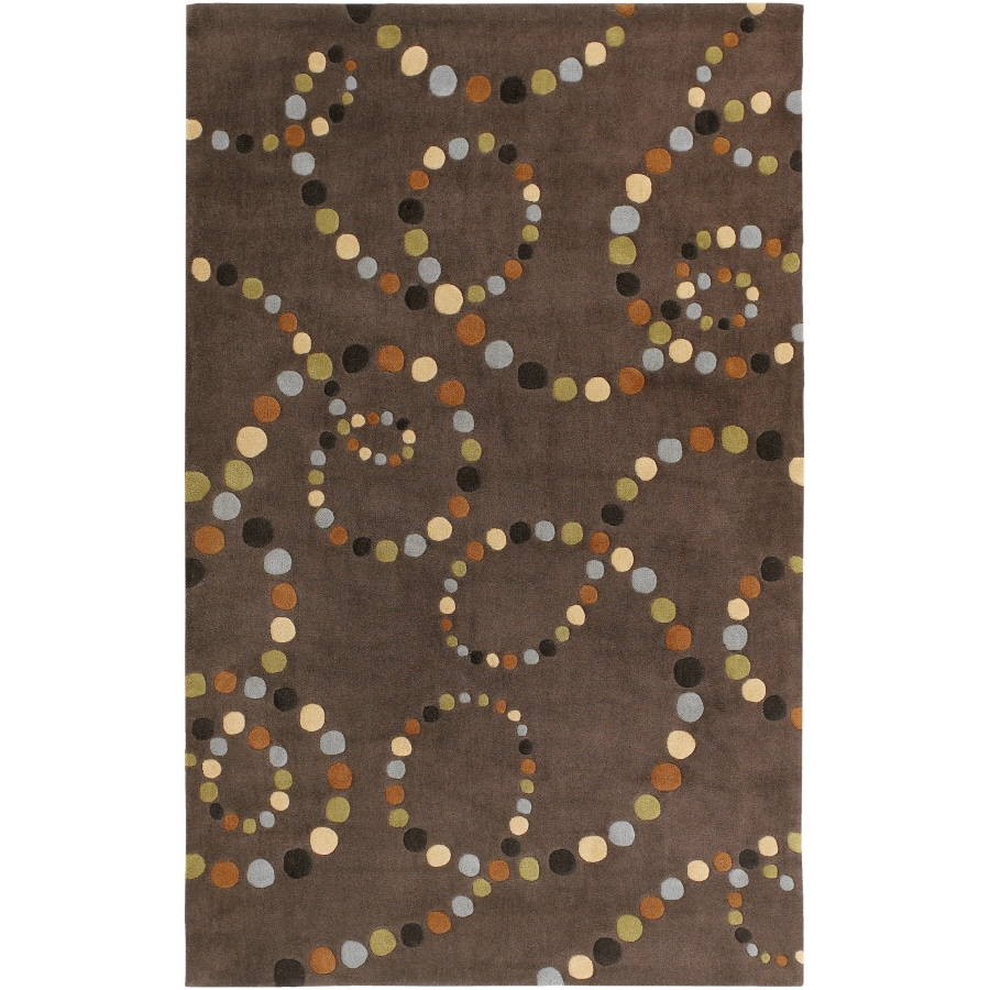 Artistic Weavers Cosmopolitan Rectangular Brown Geometric Tufted Area Rug (Common: 5-ft x 8-ft; Actual: 5-ft x 8-ft)
