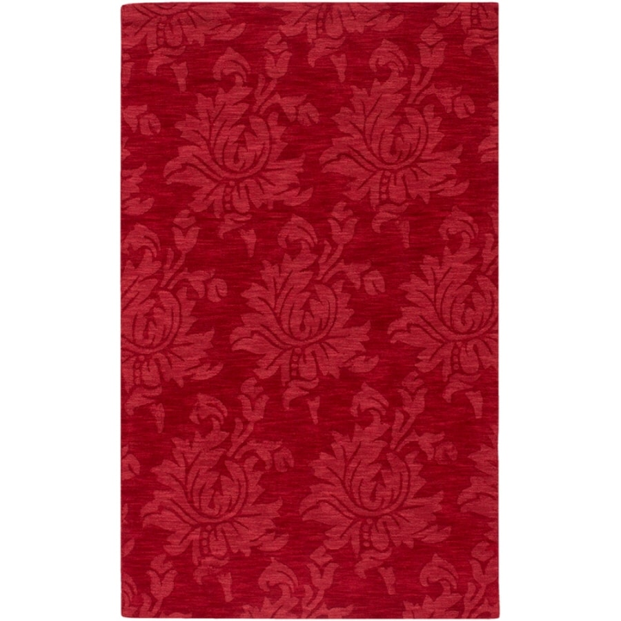 Artistic Weavers Canterbury Rectangular Red Solid Tufted Area Rug (Common: 8-ft x 11-ft; Actual: 8-ft x 11-ft)