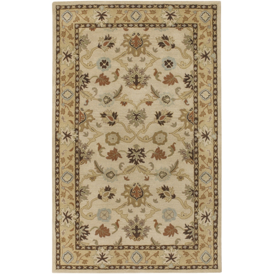 Artistic Weavers Caesar 7-ft 6-in x 10-ft 6-in Rectangular Cream Border Area Rug