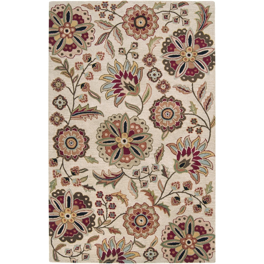 Artistic Weavers Dunedin Ivory Rectangular Indoor Tufted Area Rug (Common: 5 x 8; Actual: 60-in W x 96-in L x 1.7-ft Dia)