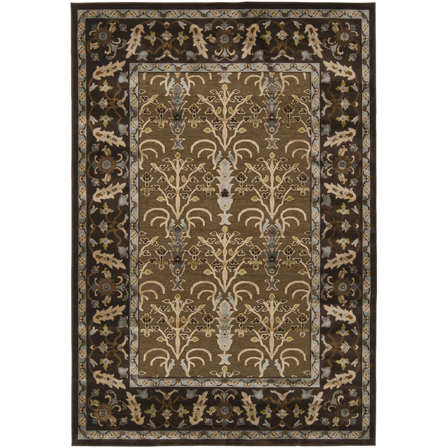 Artistic Weavers Armagh 5-ft 6-in x 7-ft 6-in Rectangular Brown Floral Area Rug