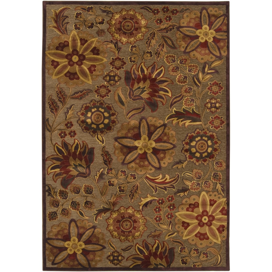 Artistic Weavers Newry 7-ft 6-in x 10-ft 6-in Rectangular Brown Floral Area Rug