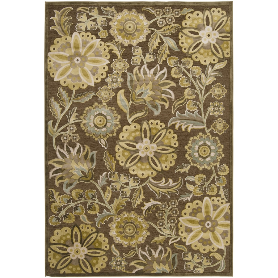 Artistic Weavers Lisburn 7-ft 6-in x 10-ft 6-in Rectangular Brown Floral Area Rug