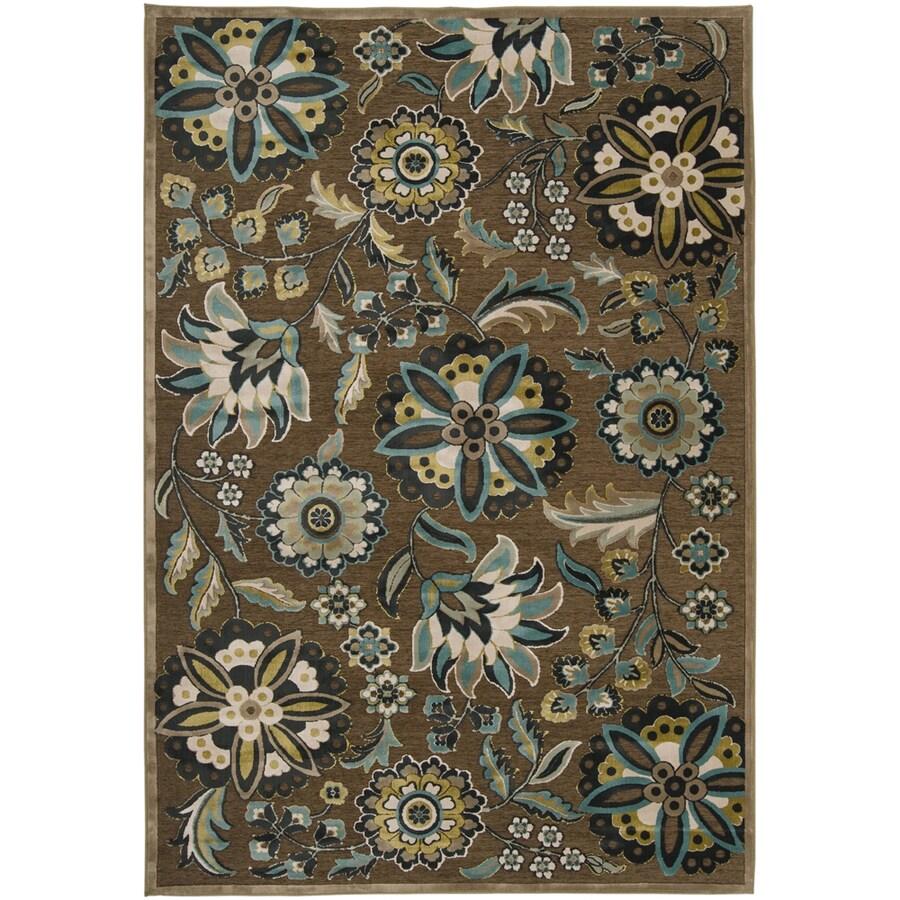 Artistic Weavers Cashel 5-ft 6-in x 7-ft 6-in Rectangular Brown Floral Area Rug