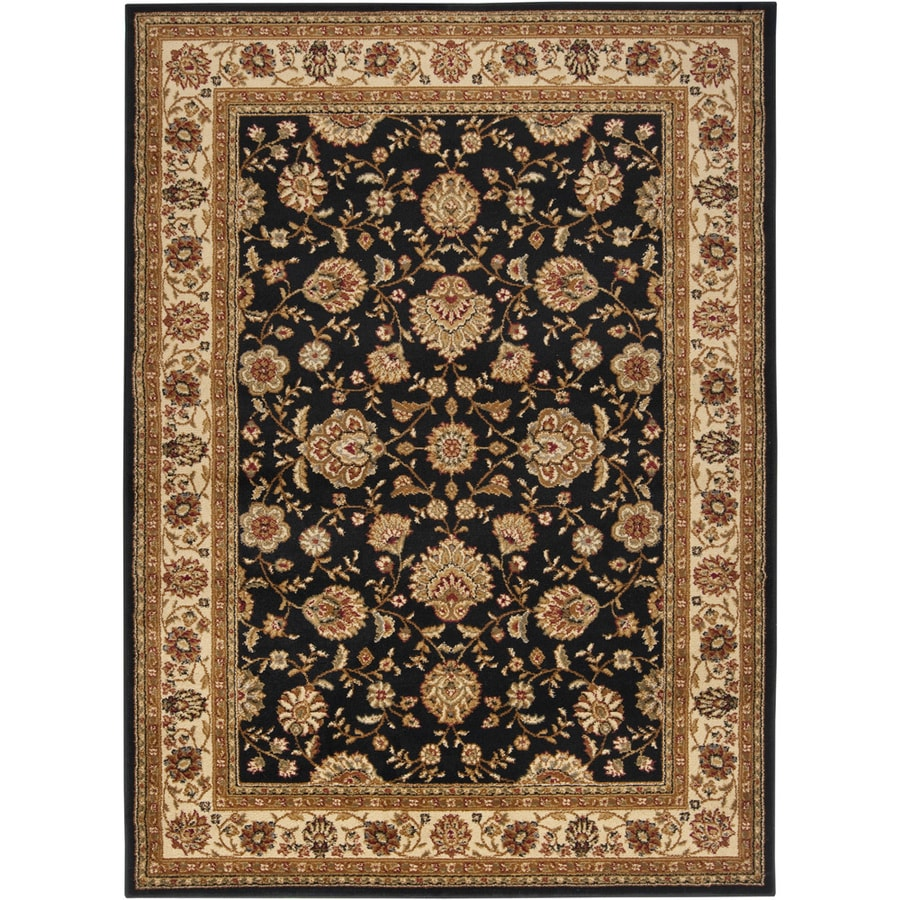 Artistic Weavers Perth Rectangular Black Fl Woven Area Rug Common 5 Ft X