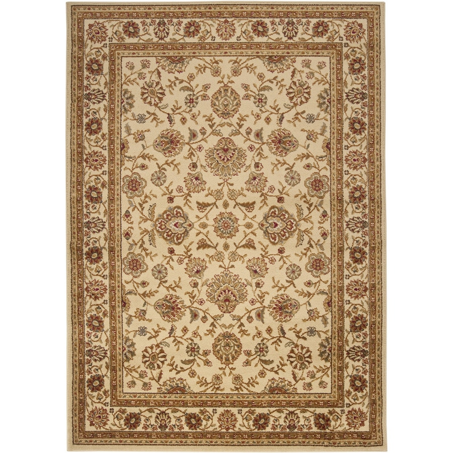 Artistic Weavers Algeria Ivory Rectangular Indoor Woven Area Rug (Common: 8 x 10; Actual: 94-in W x 123-in L x 2.4-ft Dia)
