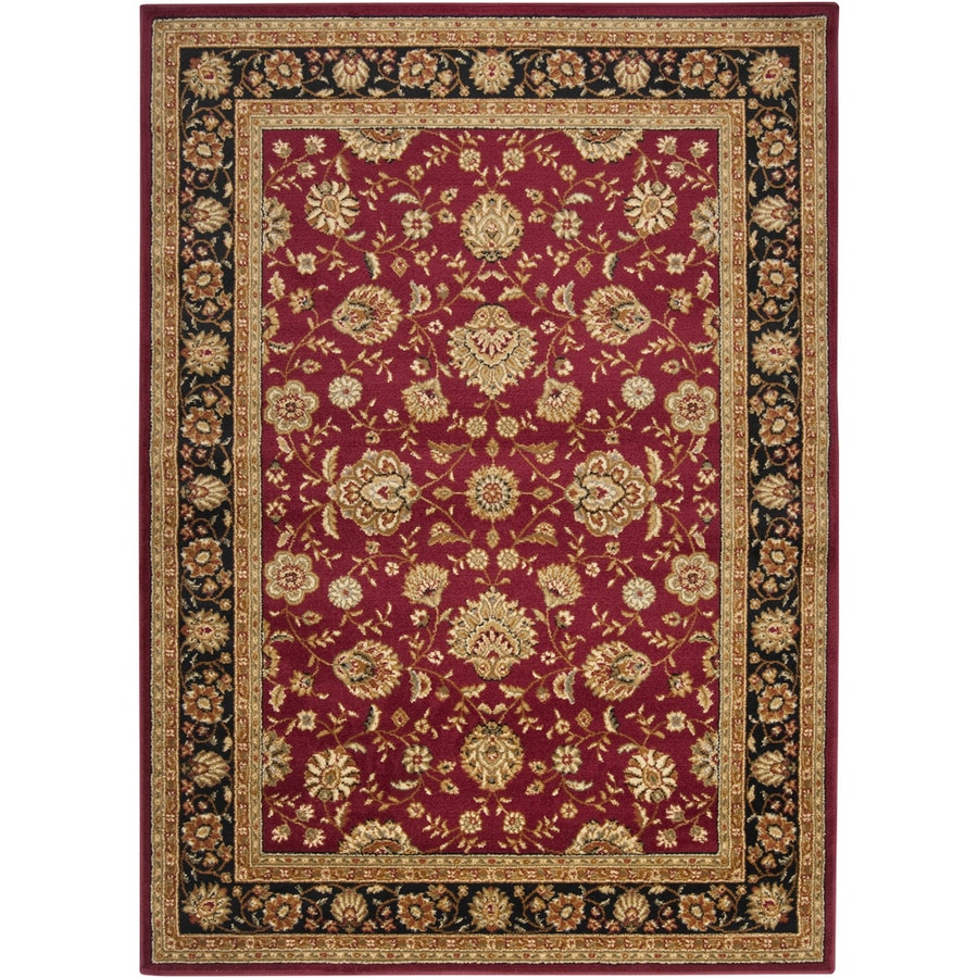 Artistic Weavers Angola Red Rectangular Indoor Woven Area Rug (Common: 5 x 8; Actual: 63-in W x 87-in L x 1.8-ft Dia)