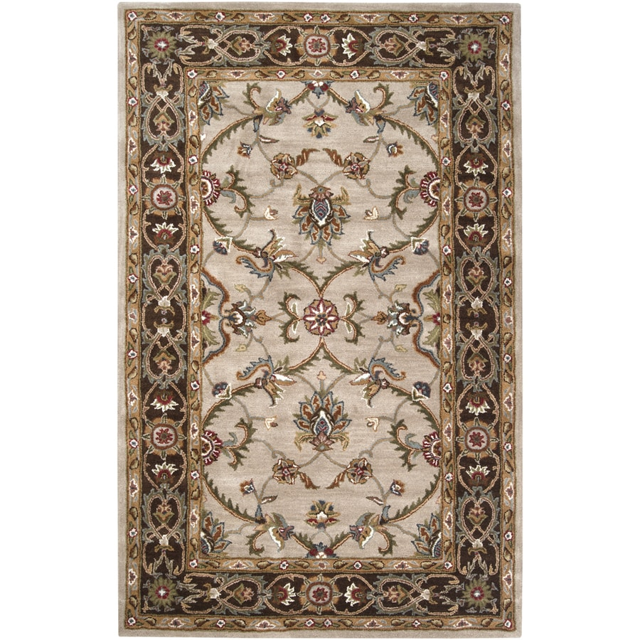 Artistic Weavers Adelaide Rectangular Cream Fl Tufted Wool Area Rug Common 5 Ft