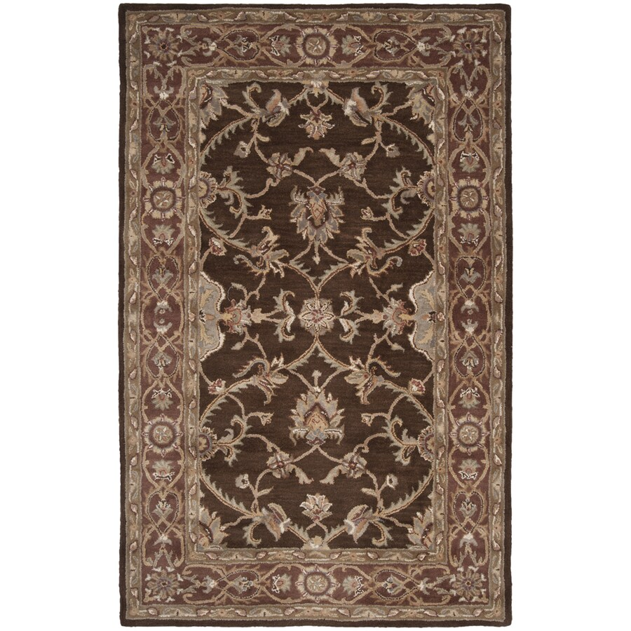 Artistic Weavers Augusta Brown Rectangular Indoor Tufted Area Rug (Common: 5 x 8; Actual: 60-in W x 93-in L x 1.7-ft Dia)