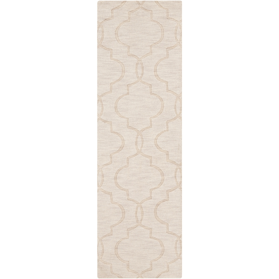 Surya Ivory Rectangular Indoor Woven Throw Rug (Common: 2 x 4; Actual: 2.6-ft W x 8-ft L x 1.2-ft Dia)