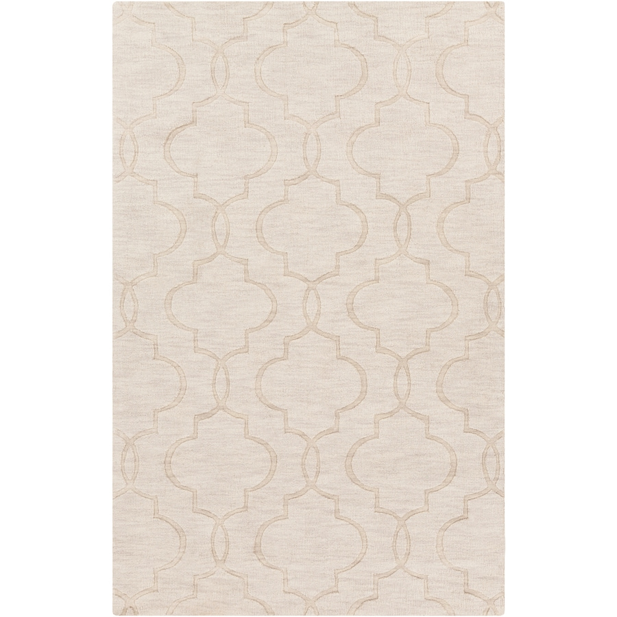 Surya Ivory Rectangular Indoor Woven Throw Rug (Common: 3 x 5; Actual: 3.3-ft W x 5.3-ft L x 1.5-ft Dia)