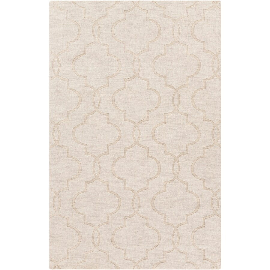 Surya Ivory Rectangular Indoor Woven Area Rug (Common: 5 x 8; Actual: 5-ft W x 8-ft L x 1.7-ft Dia)