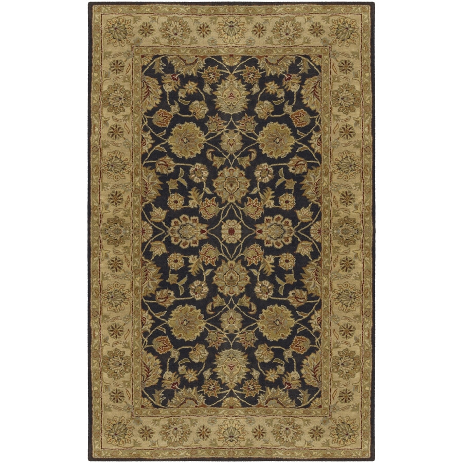 Artistic Weavers Crowne Rectangular Gray with Black Border Area Rug (Common: 5-ft x 8-ft; Actual: 5-ft x 8-ft)