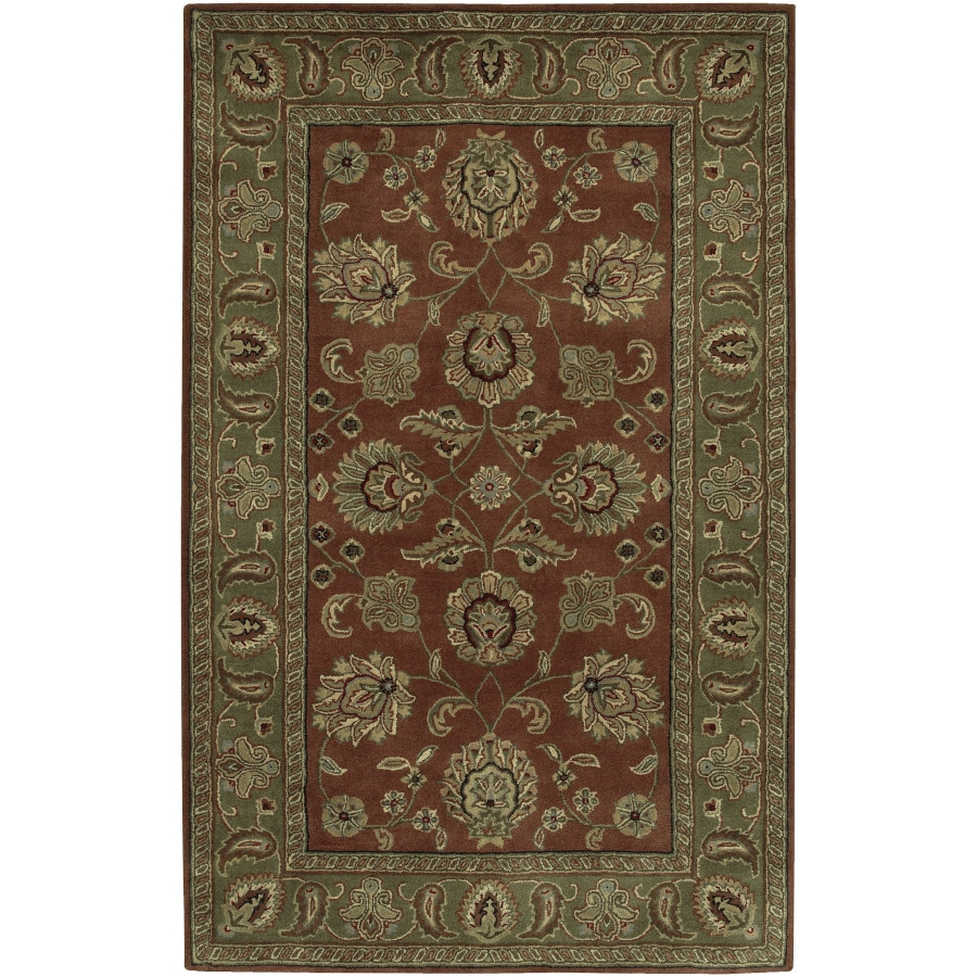 Artistic Weavers Crowne Rectangular Red with Border Area Rug (Common: 5-ft x 8-ft; Actual: 5-ft x 8-ft)