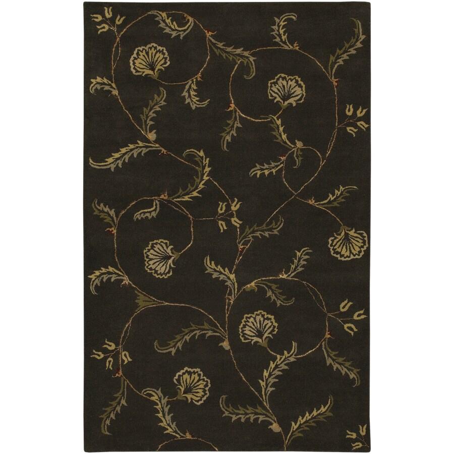 Artistic Weavers Sardinia 8-ft x 11-ft Rectangular Black Floral Area Rug