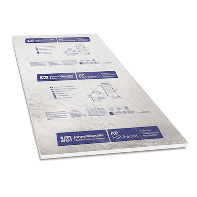 Common 1 In X 4 Ft 8 Actual Ap Foil R 6 Faced Polyisocyanurate Foam Board Insulation