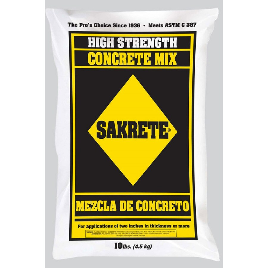 Sakrete 10-lb Gray High Strength Concrete Mix