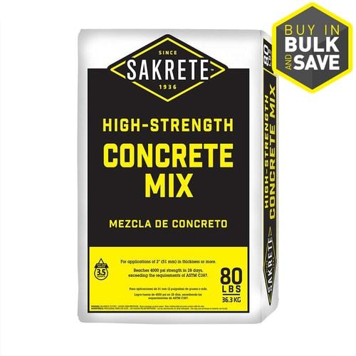 Sakrete 80 Lb High Strength Concrete Mix At Lowes