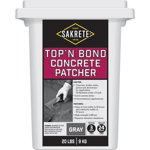Sakrete Top N Bond 20 Lbs Vinyl Concrete Patch At Lowes Com