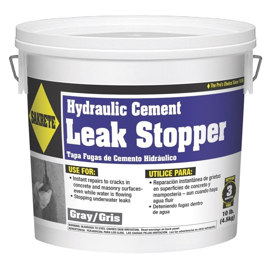 Sakrete Leak stopper 10-lb Hydraulic Cement Concrete Patch