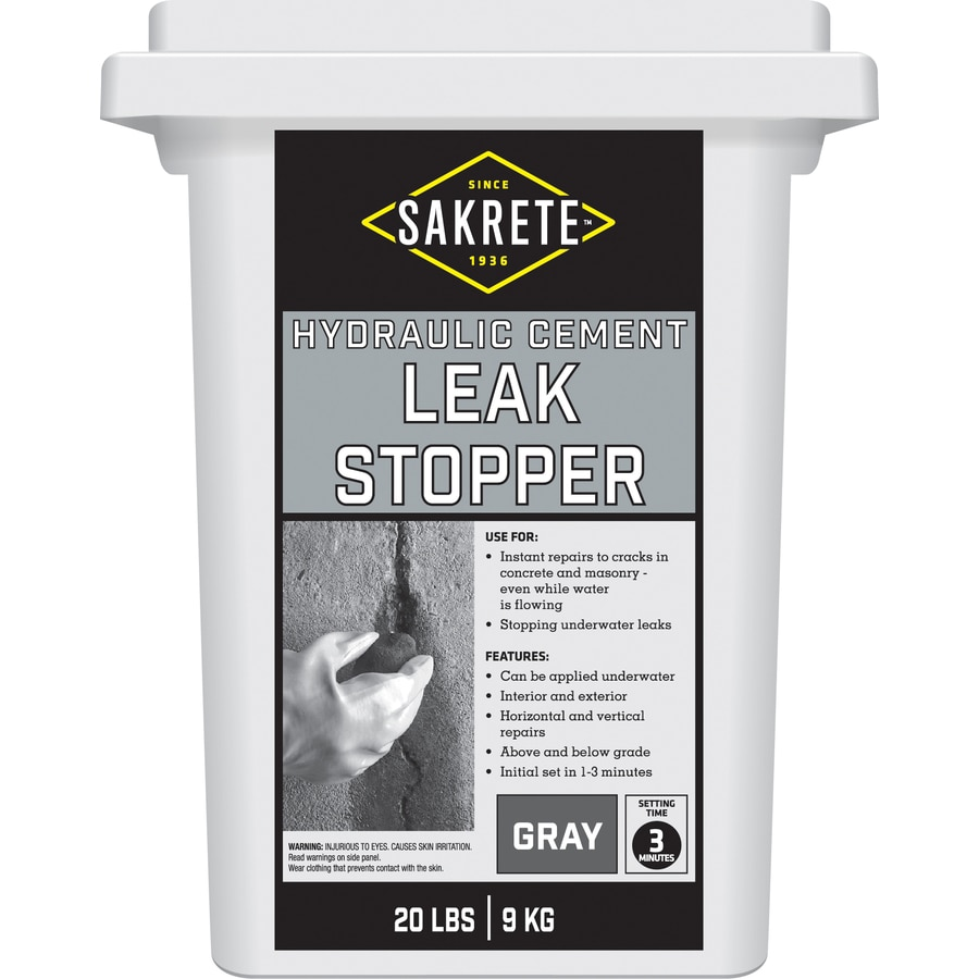 Sakrete Leak Stopper 20-lb Hydraulic Cement Concrete Patch